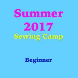 Beginner Sewing Camp
